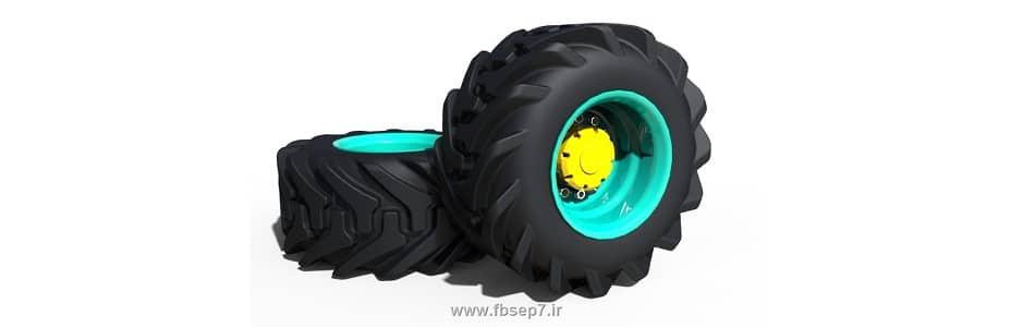 طراحی تایر تراکتور با سالیدورک solidwork