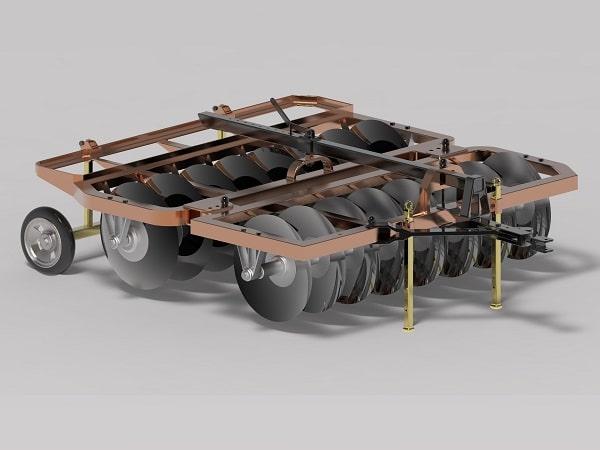 پروژه طراحی دیسک ۱۶ پره افست در سالیدورک solidwork – مهندسی بیوسیستم