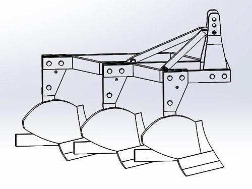 پروژه طراحی گاو آهن برگرداندار در سالیدورک – solid works