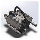 پروژه طراحی موتور 6 سیلندر با سالیدورک