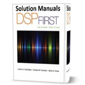 Solution Manual of DSP First - McClellan 2nd edition pdf