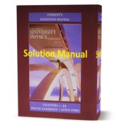 University Physics with Modern Physics 13th & 14th edition Solution Manual ( chapter solutions ) book in pdf format