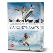 Solution Manual ( chapter solutions ) of Vector Mechanics for Engineers : Statics and Dynamics 12th pdf