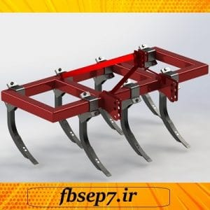 طراحی گاو آهن چیزل با نرم افزار سالیدورک solidwork
